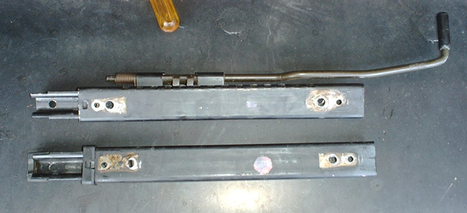 drilled seat track